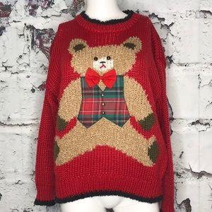 Vintage teddy bear sweater